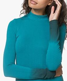 Kyra & Ko Hailey Fijn Gebreide Dip-dye Jurk - Turquoise