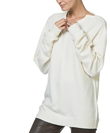 extreme cashmere N°36 Be Classic Round Neck Sweater - Cream