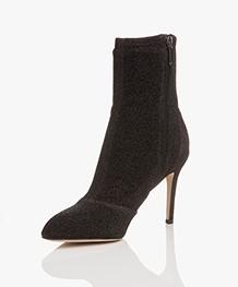 Sam Edelman Olson Pointed Toe Sock Bootie - Zwart Metallic