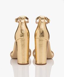Sam Edelman Yaro Heeled Sandals - Bright Gold