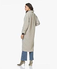 American Vintage Topitown Oversized Wolmix Mantel - Beige Melange