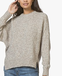 Vanessa Bruno Wool and Cotton Jaimie Sweater - Beige Mêlee