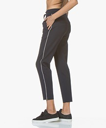 Drykorn Level Loose-fit Cropped Broek - Donkerblauw