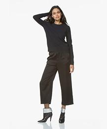 Filippa K Cashmere R-neck Sweater - Dark Navy