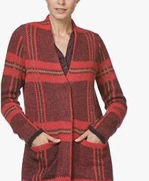 Kyra & Ko Iris Mohairmix Jacquard Vest met Ruitdessin - Rood