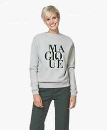 BY-BAR Jikke Magique Print Sweater - Grijs Mêlee