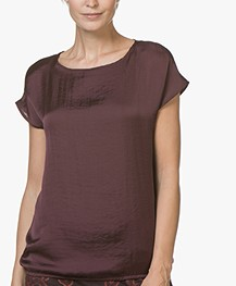 Kyra & Ko Gigi Satijnen T-shirt - Aubergine