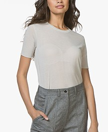 Joseph Cashair T-shirt in Puur Cashmere - Marble