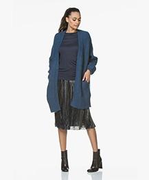BY-BAR Mirjam Oversized Open Vest - Oil Blue