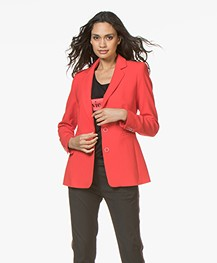 LaSalle Getailleerde Blazer - Rood