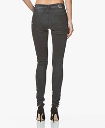 Denham Spray Super Skinny Fit Jeans - Washed Black