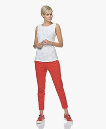 An Hour And A Shower Knot Platform Slip-on Sneakers - Red