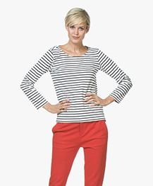 Striped Long Sleeve L'Aimee - White/Navy