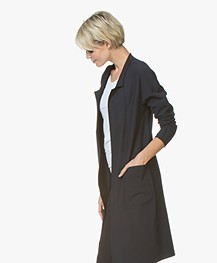 JapanTKY Oniyi Reversible Open Blazervest - Zwart/Zwartblauw