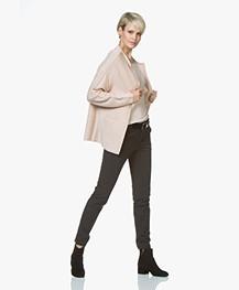 Sibin/Linnebjerg Arden Merino Wool Blend Open Cardigan - Baby Pink