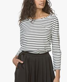 Plein Publique Striped Long Sleeve L'Aimee - Ecru/Black