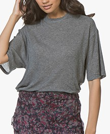 IRO Lost Lang Tencel T-Shirt - Smoke Grey