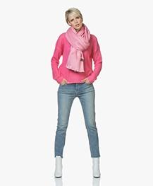 Alpaca Loca Handgemaakte Uni Sjaal in Alpaca - Roze