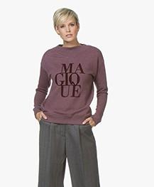 BY-BAR Jikke Magique Print Sweater - Wine