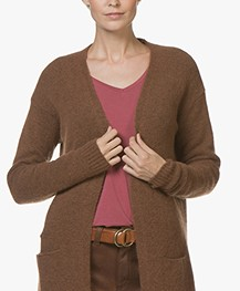 BY-BAR Nisa Hafllang Open Vest - Cognac
