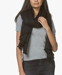 Alpaca Loca Handgemaakte Uni Sjaal in Alpaca - Zwart