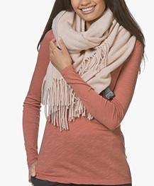 Drykorn Abadi Wollen Sjaal - Lichtroze