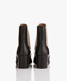ATP Atelier Altea Leather Ankle Boots - Black Vacchetta