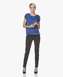 Kyra & Ko Gigi Satijnen T-shirt - Kobalt