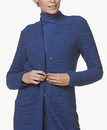 Kyra & Ko Feline Ottoman Rib Jersey Blazervest - Kobalt