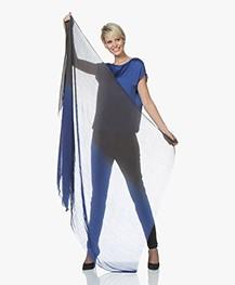 Kyra & Ko Pip Dip-Dye Sjaal - Kobalt/Grijs