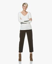Plein Publique La Papillion V-Neck Sweater - Ecru