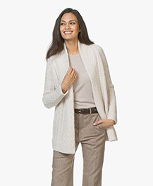 no man's land Open Cable Cardigan in Alpaca Blend - Rose Marble