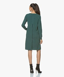 Repeat Fine Knit Dress from Pure Cashmere - Forest