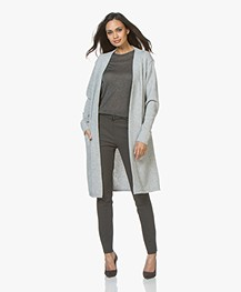 Resort Finest Maxime Long Open Cardigan - Grey