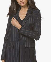 Closed Cox Striped Oversized Blazer - Dark Night