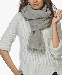 Filippa K Wool Cashmere Sjaal - Dark Oyster Mêlee