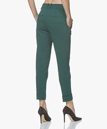 Drykorn Emom Ponte Jersey Cropped Pantalon - Flesgroen