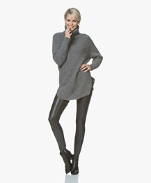 SPANX® Faux Leather Pebbled Legging - Pebble Grey