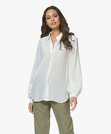 Drykorn Diaz Zijden Blouse - Off-white