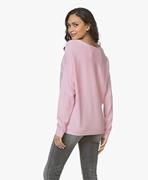 Repeat Cashmere Boothals Trui - Rose