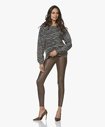 SPANX® Ready-to-Wow! Faux Leather Leggings - Bronze Metal