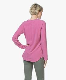 Denham Icicle Sweater in Cotton Fleece - Dusty Cedar