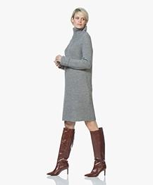 Drykorn Arwenia Rib Knit Turtleneck Dress - Grey