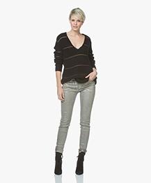 Drykorn Pull Coated Skinny Jeans - Zilverbeige