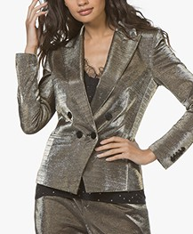Drykorn Hervey Lurex Double-breasted Blazer - Taupe