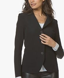 JapanTKY Yuuka Getailleerde Travel Jersey Blazer - Zwart