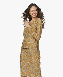 Kyra & Ko Felda Jacquard Jersey Sweater - Chai