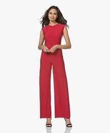 Norma Kamali Sleeveless Travel Jersey Jumpsuit - Rood