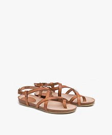 Fred de la Bretonière Leather Sandals - Light Brown