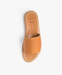 K. Jacques St. Tropez Capri Leather Slipper Sandals - Natural